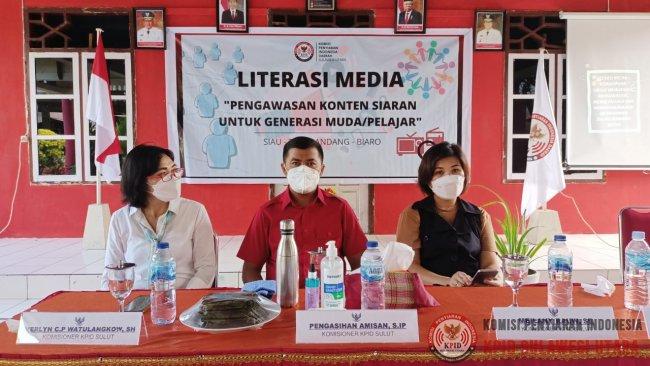 Literasi Media oleh KPID Sulut Bagi Pelajar di Kepulauan Sitaro
