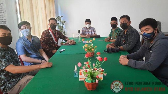 Kunjungan GMNI Manado di KPID Sulut, Bersama Awasi Konten Siaran