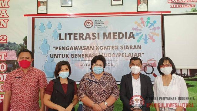 KPID Sulut Gelar Literasi Media Bagi Pelajar di Kota Tomohon